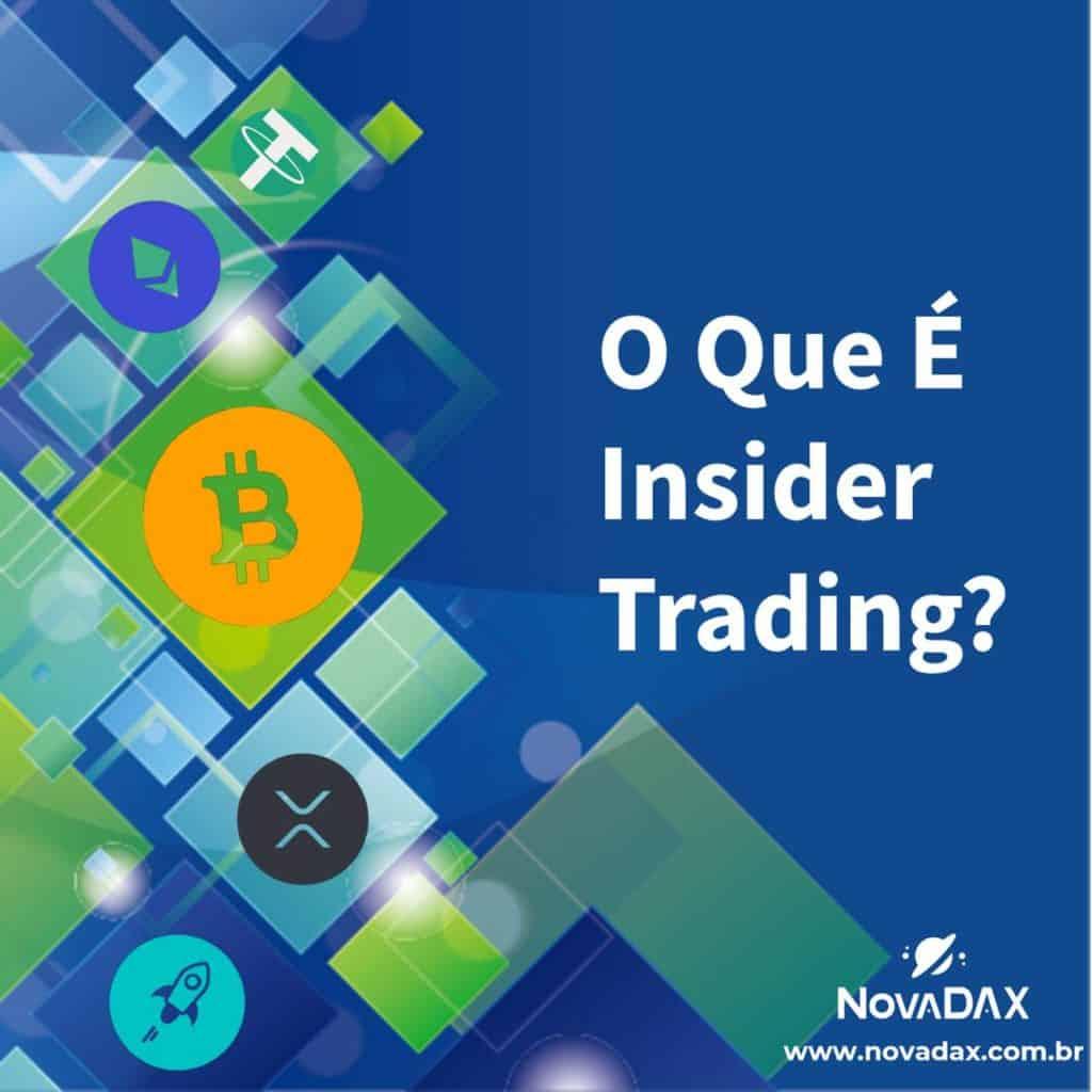o que é insider trading